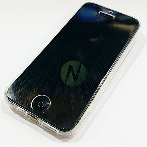 iPhone 5 Kit Fronte Retro Custodia per Apple iPhone 5S 5 wi-fi lte 4g 3g Cover Case Morbida in Gel Silicone Trasparente TOTAL FLEX PROTECTION + Pennino Capacitivo