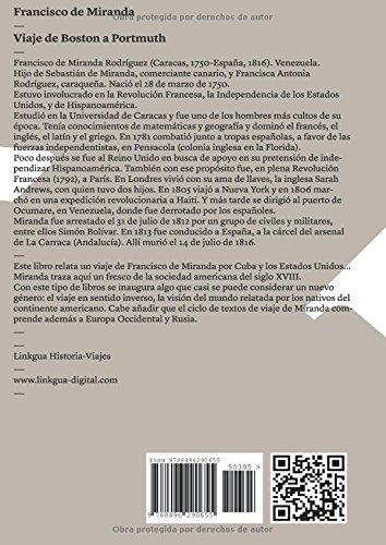 Viaje de Boston a Portmuth (Memoria-Viajes) (Spanish Edition ...