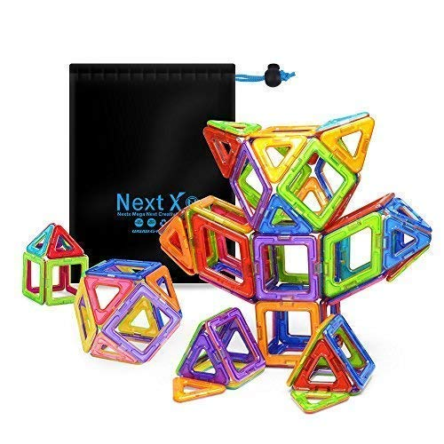 Magnetic Blocks, Stacking Blocks 3D Building Sets 64 PCS, NextX Baby Toys and Games, Christmas Gifts for Girls and Boys product image