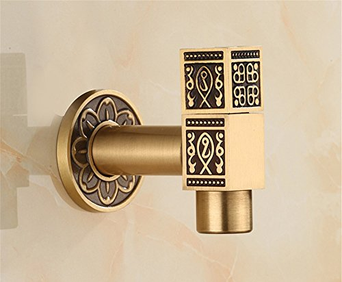 - Commercial Single Lever Pull Down Kitchen Sink Faucet Brass ConstructedAll copper kitchen antique single cold mop pool washing machine special square faucet into the wall faucet retro, mop pool