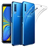 EasyAcc Case for Samsung Galaxy A7 2018, Soft TPU Crystal Clear Slim Anti Slip Case Transparent Back Cover Compatible with Samsung Galaxy A7 2018