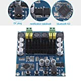 TPA3116D2 Wireless Bluetooth 4.0 Dual Channel 120W+120W Audio Receiver Digital Amplifier Board DC 12V-24V for DIY Home Sound Car Audio