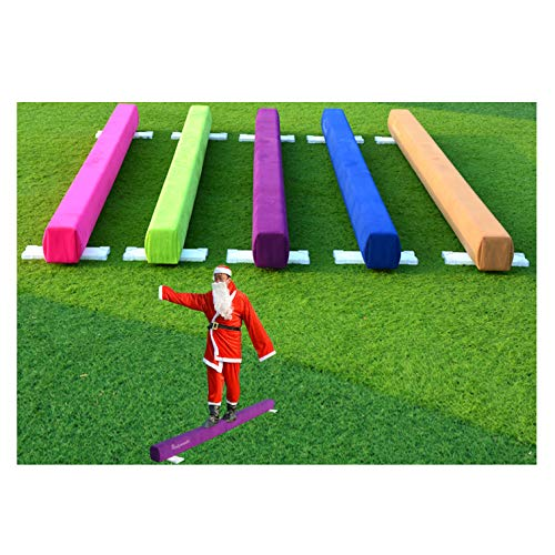 PreGymnastic Wood Core Off Ground Gymnastic Beam 8′ with Predrilled Hole, Gymnastics Training Beam, Competition Style Gymnastics Floor Beam