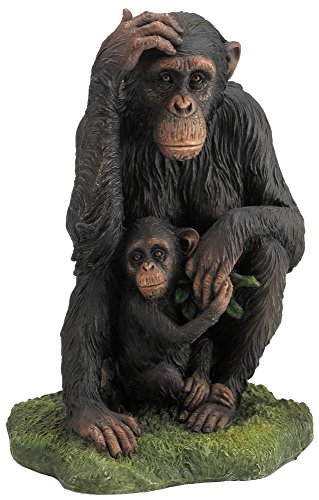 7.25 Inch Animal Figure Seated Chimpanzee and Baby Display Collectible