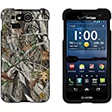 Slim Light Weight 2 piece Snap On Non-Slip Matte Hard Shell Design Rubber Coated Rubberized Case Cover With Premium Protection For Kyocera Hydro Elite C6750 - Autumn Camouflage - Black - Retail Packaging
