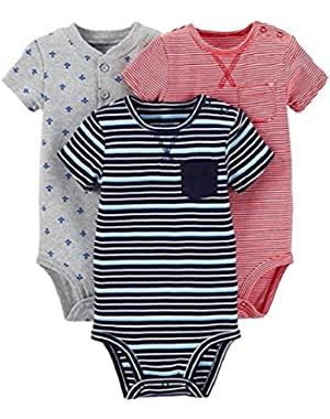 Carter's Just One You Baby Boys' Airplanes 3-Piece Bodysuit Set - Multi
