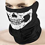 Skull Head Mask, 5 Pieces Seamless Multifunctional Magic Outdoor Face Mask Scarf for Ski Motorcycle Snowboard Cycling Hiking or Halloween Props