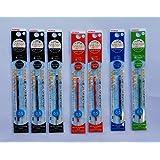 ゼブラ ジェルボールペン替芯0.5mm 黒3本/赤2本/青1本/緑1本 RNJK5-BK/R/BL/G 4色7本組み