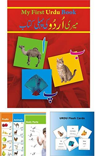 Learn Urdu - For Kids and Beginners [The pack contains Urdu Book, Urdu posters, Urdu flash cards]
