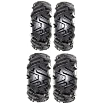 Full set of MotoSport EFX Moto MTC 26x9-14 and 26x11-14 ATV Tires (4) by Powersports Bundle