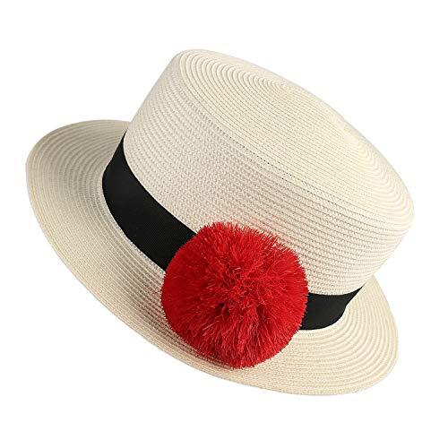 Janetshats Straw Summer Pork Pie Hat Flat Top Derby Porkpie Fedora Hats -