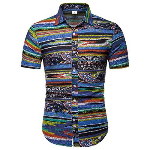 - Lapel Printing Short Sleeve Shirt Men's New Pattern Casual Fashion Printing Tops