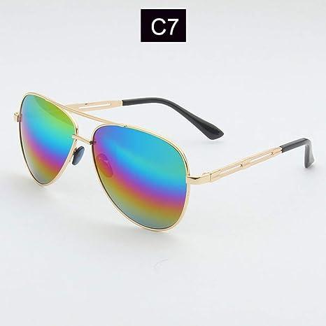 Yangjing-hl Nuevas Gafas de Sol Redondas Retro para Mujer ...
