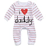 Scfcloth Newborn Baby Boys Girlsi Love daddy Long - Best Reviews Guide