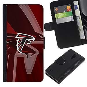 Stuss Case / Funda Carcasa PU de Cuero - Hawk Equipo deportivo - Samsung Galaxy S4 IV I9500