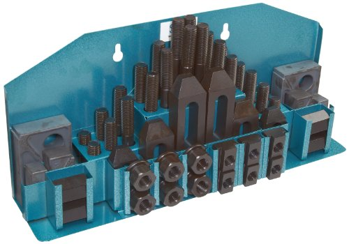 TE-CO 20415 Machinist Clamp Kit, 11/16'' Table T-Slot x 5/8-11'' Stud, 52 Pieces by TE-CO