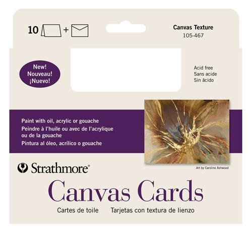 (Strathmore (105-467-1 STR-105-467 Canvas Full Cards (10 Pack), Cards &)