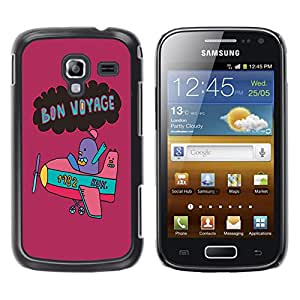 - Voyage - - Hard Plastic Protective Aluminum Back Case Skin Cover FOR Samsung GALAXY Ace 2 I8160 Queen Pattern