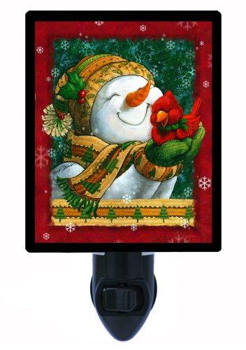 (Winter Night Light, Snuggle in The Snow, Snowman, Cardinal LED Night)