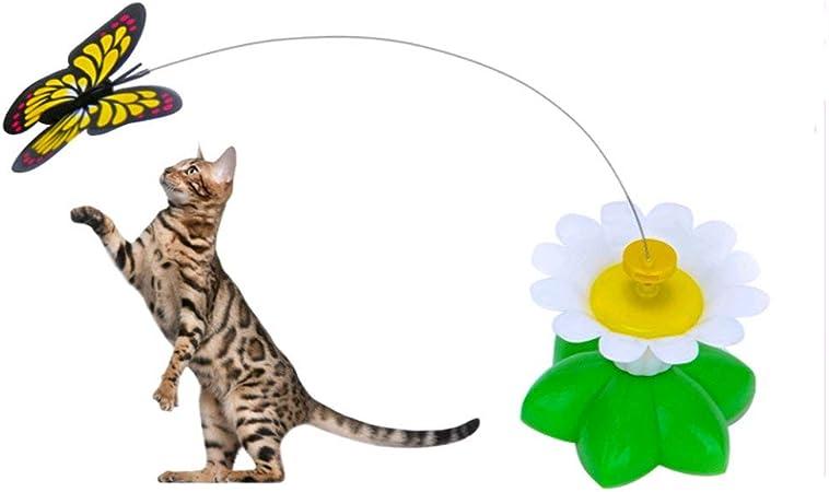 Giocattolo Elettrico a Forma di Farfalla Uccello per Gatti Longerse Giocattolo Rotante per Gatti Non Include batterie