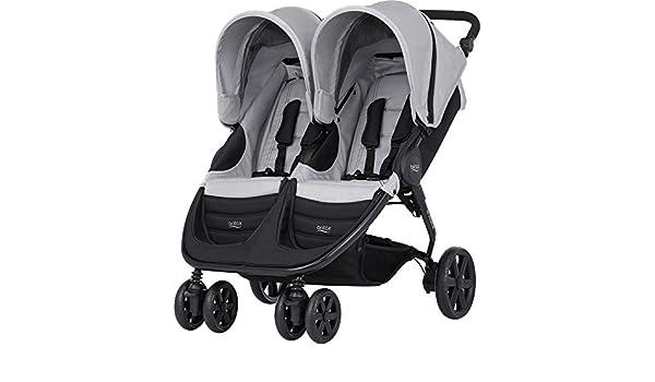 Britax Romer B-Agile Doble carrito de bebé, 15 kg, Acero, Color Gris: Amazon.es: Bebé