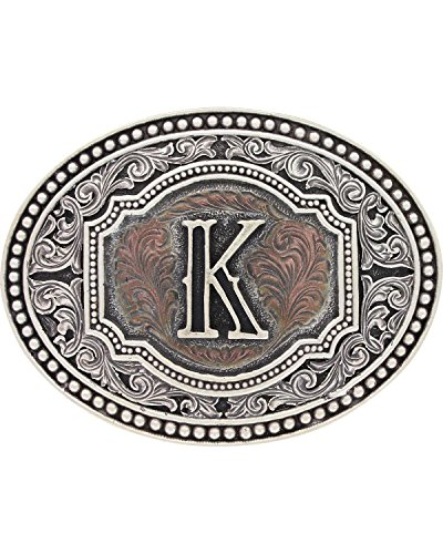 (Montana Silversmiths Men's Initial Two Tone Cameo Buckle - A518 (K))