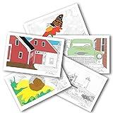 Adult & Kid Coloring Postcards Variety Pack. 2 - Best Reviews Guide