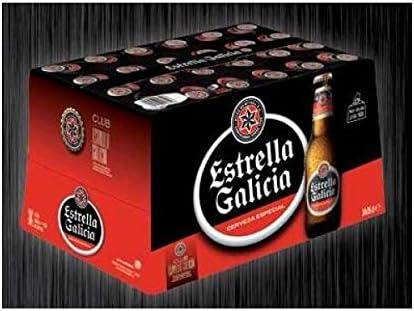 CERVEZA ESTRELLA DE GALICIA ESPECIAL LAGER PACK 24 BOTELLAS 25CL: Amazon.es: Alimentación y bebidas