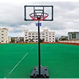 Portable Basketball Hoop & Goal in Door Basketball System Basketball Equipment Height Adjustable Height Backboard and Wheels for Youth Kids Indoor Outdoor Use