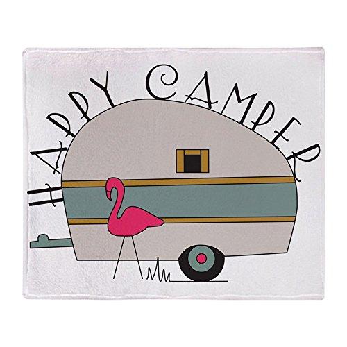 CafePress - Happy Camper - Soft Fleece Throw Blanket, 50