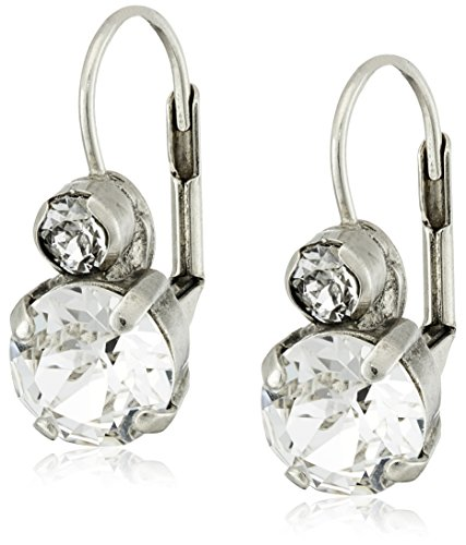 """Sorrelli """"Crystal"""" Round French Wire Drop Earrings"""
