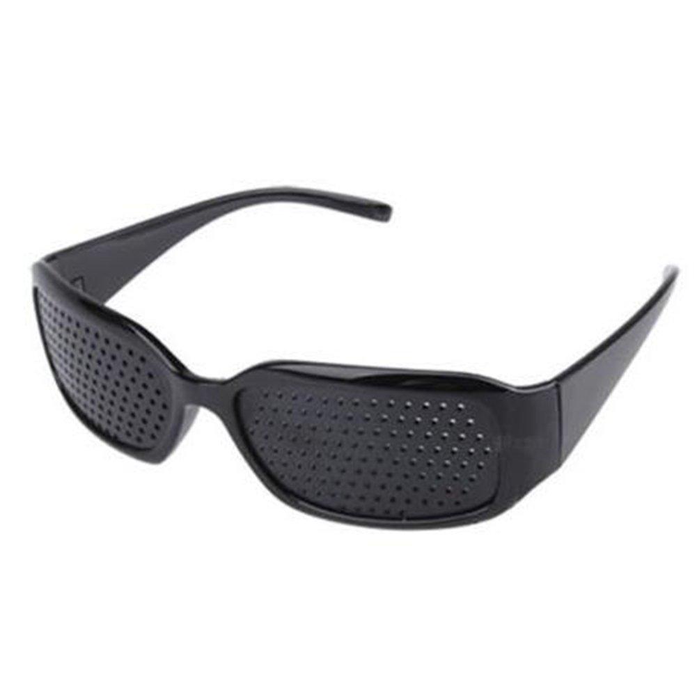 CDKJ Gafas de Reposo a estenopeica–Ayuda a améliorer la Vue (Negro) (Black)