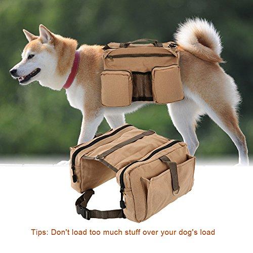 Lixada Hound Travel Camping Hiking Backpack Saddle Bag for Dog Pack Medium or Large Dog