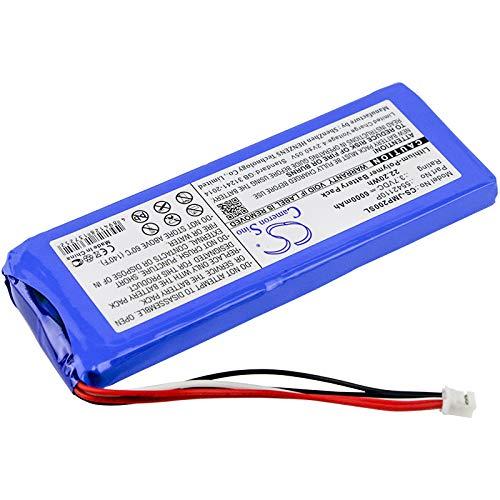 Cameron Sino Battery Compatible with JBL Pulse 2, Pulse II, PULSE2BLKUS (6000mAh)