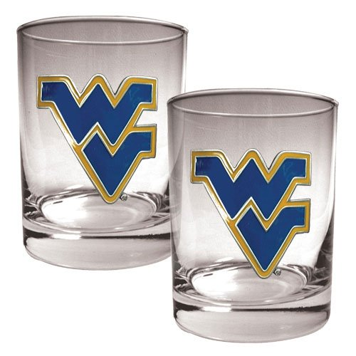 NCAA West Virginia Mountaineers Two Piece Rocks Glass - High West Whiskey Glasses