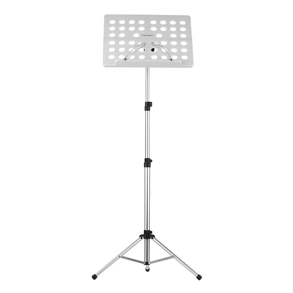 ammoon Flanger Music Score Tripod Stand Holder Bracket Aluminum Alloy with Water-resistant Carry Bag for Orchestra Violin Piano Guitar Instrument Performance FL-05R Collapsible 1