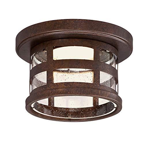 Design House 587212 Washburn Outdoor LED Flush Mount Ceiling Light, Rustic Bronze
