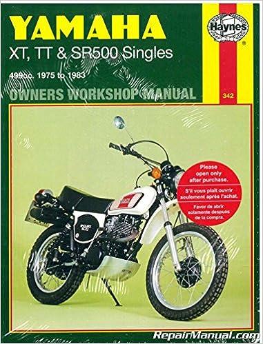 H342 Haynes Yamaha XT500 TT500 SR500 1975-1983 Motorcycle ... on