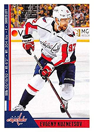 2018-19 Panini NHL Stickers Collection  261 Evgeny Kuznetsov Washington  Capitals Official Hockey Sticker ae91b5d16