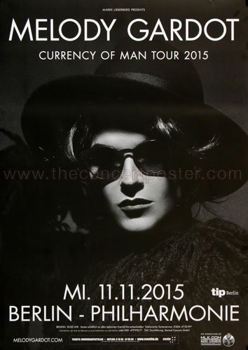 Melody Gardot - Currency Of Men Ber 2015 - Concert Poster Plakat