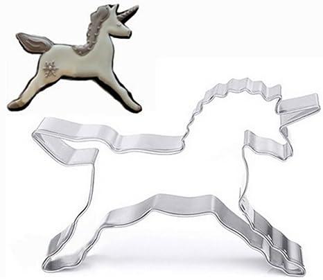 Cdet Molde para Cortador de Galletas Caballo del Unicornio decoración de Pasteles, Galleta, pastelería