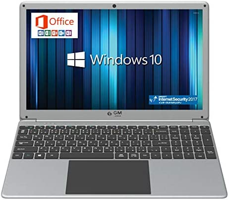 GLM 薄型 ノートパソコン 15.6インチ 大画面 PC テンキー 搭載 日本語キーボード