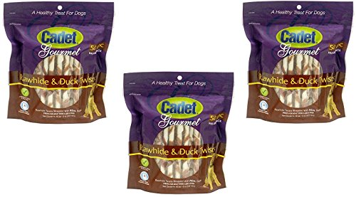 3-Pack-Cadet-Rawhide-Duck-Dog-Treat-Twists-50-Count-Each