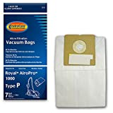 EnviroCare Replacement Micro Filtration Vacuum Bags for Royal AiroPro Type P Canisters 7 Bags and 1 Filter