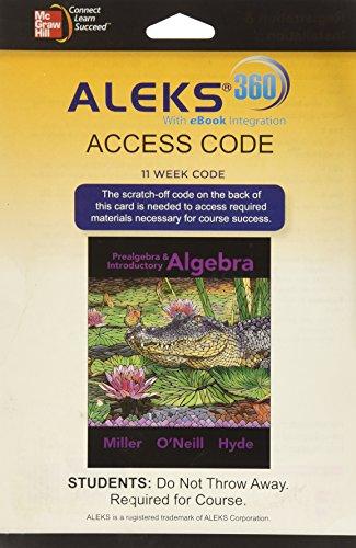 Prealgebra+Intro.Alg. Aleks 360 Access