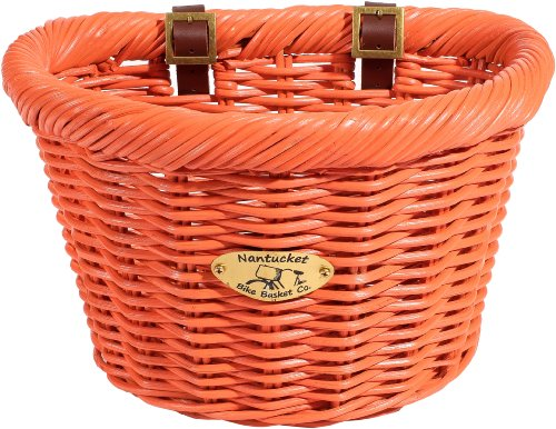 Nantucket Bicycle Basket Co. Cruiser Adult D-shape Basket, Carrot]()