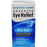 Bausch & Lomb Advanced Eye Relief, Dry Eye Rejuvenation, Lubricant Eye Drops, 0.5-Ounce Bottles (Pack of 3)