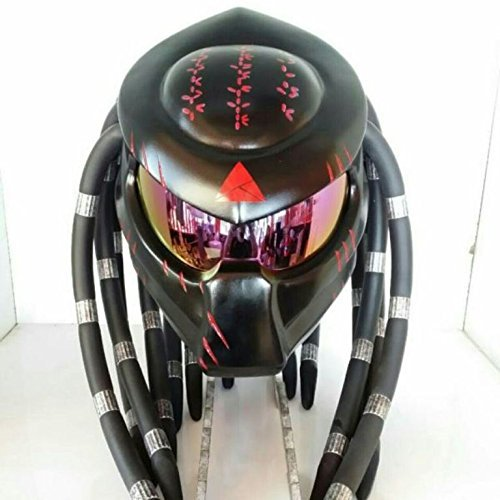 JK41 NEW GORGEOUS BLACK & RED CLAW CUSTOM PREDATOR MOTORCYCLE HELMET AIRBUSH PAINTING DOT/ECE STANDARD – SHIP FROM THAILAND (M = 57-58 (Predator Claw)
