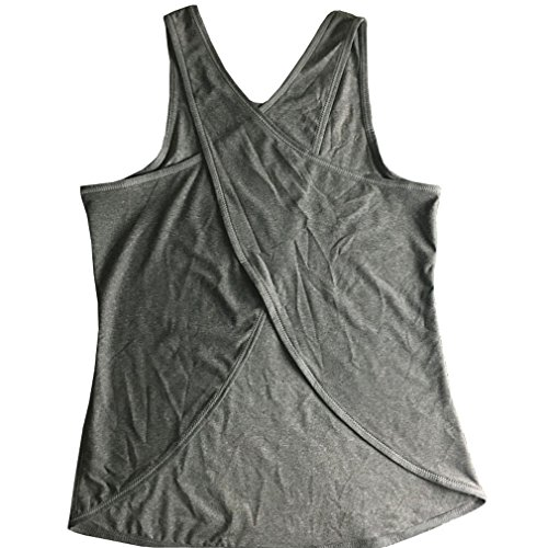 Women's Yoga Shirt, ADiPROD Sexy Gym Loose Workout Running Top Tank Sleeveless for Girl Women Gray Size (Sexy Female Marine)
