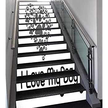 Amazon com: Stair Stickers Wall Stickers,13 PCS Self-adhesive